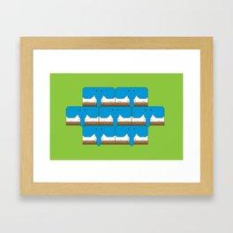 Elephant-Dog Pattern Framed Art Print