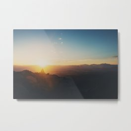 sunrise on Mt Woodson ... Metal Print