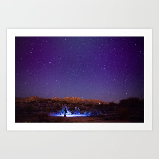 Exploring the night Art Print