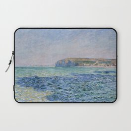 Shadows on the Sea at Pourville by Claude Monet Laptop Sleeve