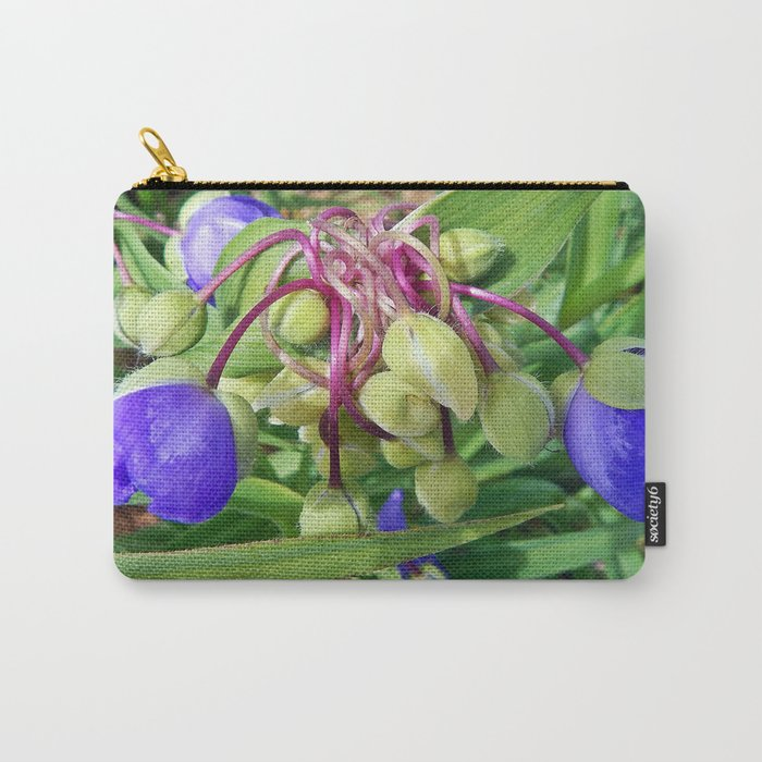Spiderworts Flower Stems Carry-All Pouch