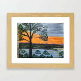 Early Evening at the Lake Framed Art Print