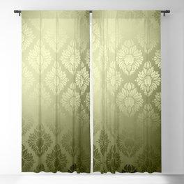 """""""Olive Damask Pattern"""" Blackout Curtain"""