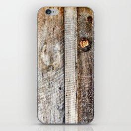 Timber Cabin Wall. Downieville. USA iPhone Skin