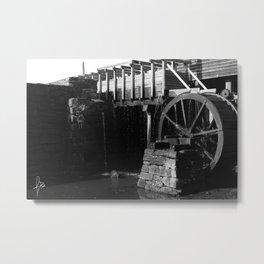Wheel B&W Metal Print