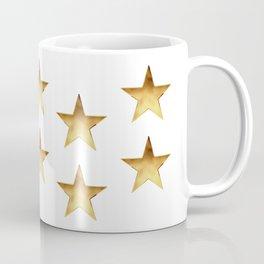 Gold Metallic Stars Design Coffee Mug