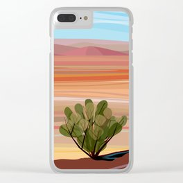 Mojave Desert (Vertical) Clear iPhone Case