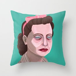 sharpened pearl Throw Pillow
