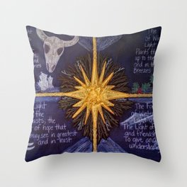 The Four Lights of Winter Throw Pillow