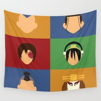 avatar Wall Tapestries featuring Team Avatar by Adrian Mentus