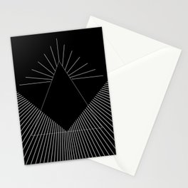 Abstraction 035 - Minimal Geometric Triangle Stationery Cards