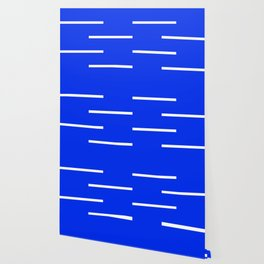 Abstract Minimal Retro Stripes Blue Wallpaper