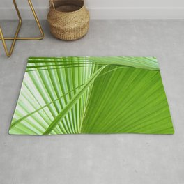 Palm Leaves // Tropical Wall Art, Beach Cottage Decor, Coastal Art Rug
