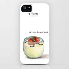 La Cuisine Fusion - Strawberries with Mayo iPhone Case
