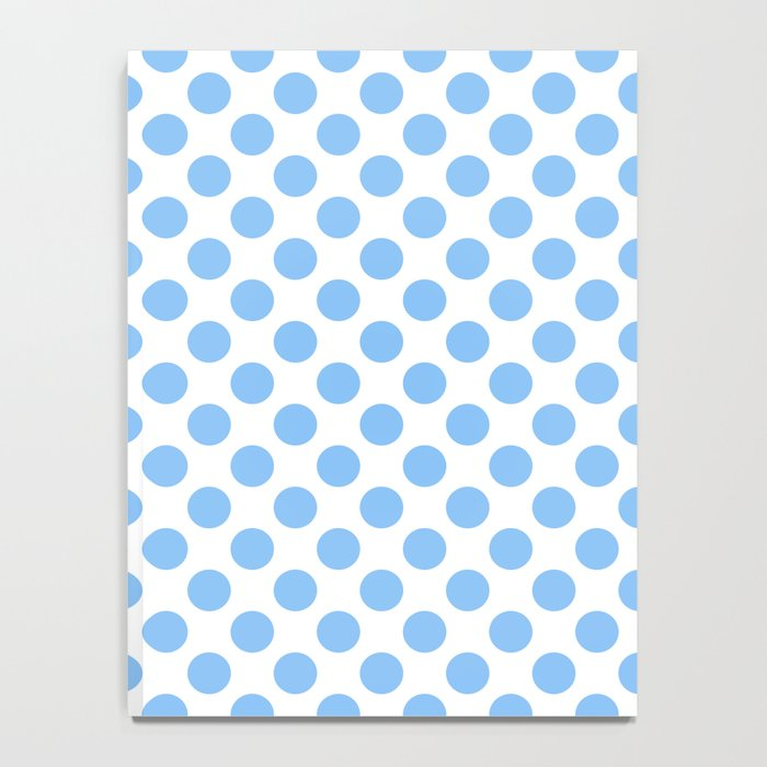Light blue and white polka dots pattern Notebook