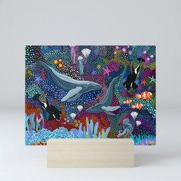 Whale Ocean Life Mini Art Print