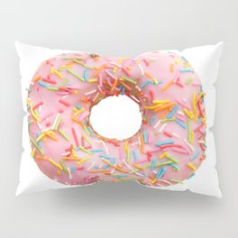 Single pink donut Pillow Sham
