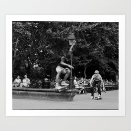 Skater Jumping a Ledge  Art Print