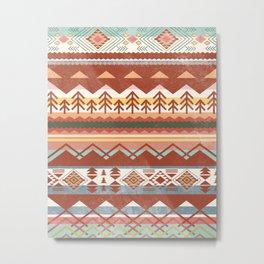 Boho Graphic Moroccan Oriental Carpet Modern Pattern Art Design - 1 Metal Print