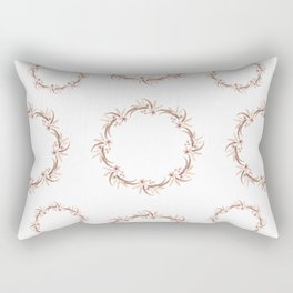 Watercolor floral wreath Rectangular Pillow