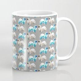 Polygon Tibetan Spaniel Elegant Taupe Pattern Coffee Mug
