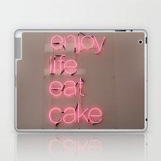 enjoy life eat cake Laptop & iPad Skin