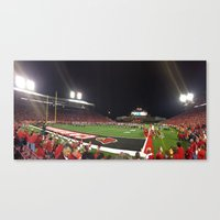 football Canvas Prints featuring Football by Yellow Barn Studio