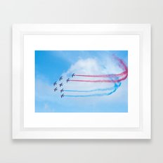 PAF - Patrouille de France - Hyeres637-2010 aircraft aviation  637 Framed Art Print