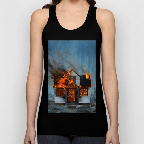 House on Fire Unisex Tank Top