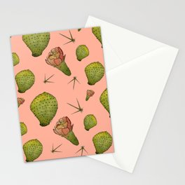 Pink Cactus Pattern Stationery Cards