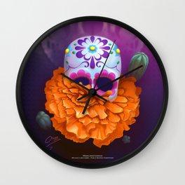 Cempazuchitl Wall Clock