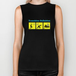 Triathlon Transition Definition Funny Biker Tank