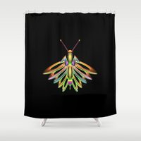 firefly Shower Curtains featuring Firefly by Phil Perkins