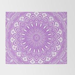 Beautiful Purple Violet Mandala Design Pattern Minimal Minimalistic Throw Blanket