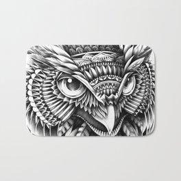 Ornate Owl Head Bath Mat