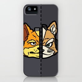 Old & New Fox McCloud iPhone Case