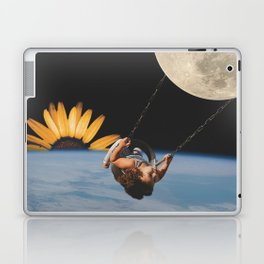 Collage of Girl on Swing in Space Laptop & iPad Skin