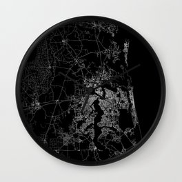 Jacksonville map Wall Clock