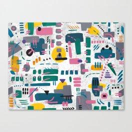 Abstract gouache Canvas Print