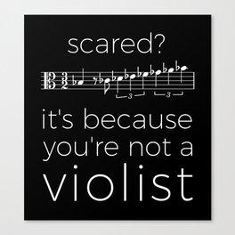 Fearless violist (dark colors) Canvas Print