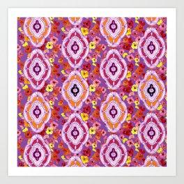 Pink, Orange, Purple Pattern Art Print
