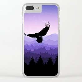 Eagle Skyline Clear iPhone Case