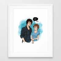 fault in our stars Framed Art Prints featuring The Fault In Our Stars by Laia™