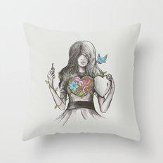 Secret Garden Throw Pillow
