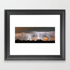 Monsoon Peach Framed Art Print