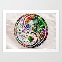 Yin and Yang Balance Poster Print by Robert R Art Print