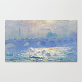 Claude Monet's Waterloo Bridge Canvas Print