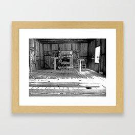 One Room School House Framed Art Print