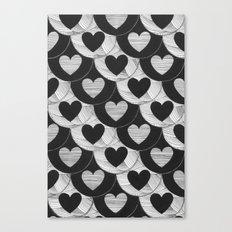 corazones Canvas Print