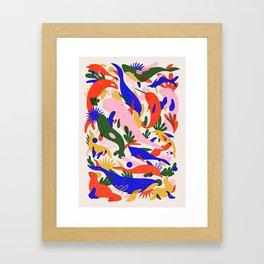 Whales Vertical Framed Art Print